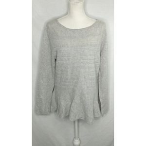 Cashmere charter club sweater gray size large